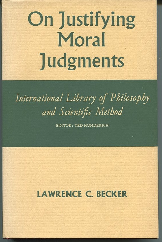 On Justifying Moral Judgments.