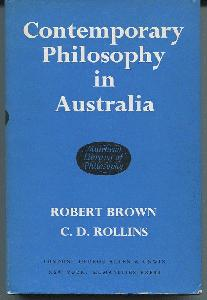 Contemporary Philosophy in Australia.