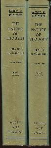 The Nature of Thought. (2 volumes)