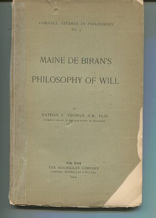 Maine De Biran's Philosophy of Will