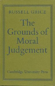 The Grounds of Moral Judgement.