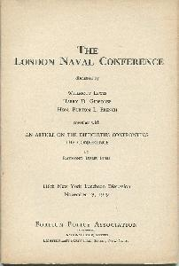 The London Naval Conference.