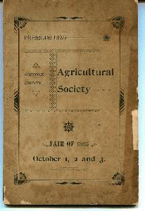 List of Premiums of the Suffolk County Agricultural Society. Forty-Third Annual Exhibition Held on the Fairgrounds at Riverhead, October 1-3, 1895.