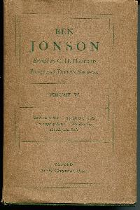 THE OXFORD JONSON. EDITED BY C. H. HERFORD AND PERCY and EVELYN SIMPSON. Volume VI.