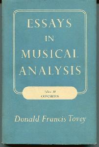 Essays In Musical Analysis. Volume III Concertos.