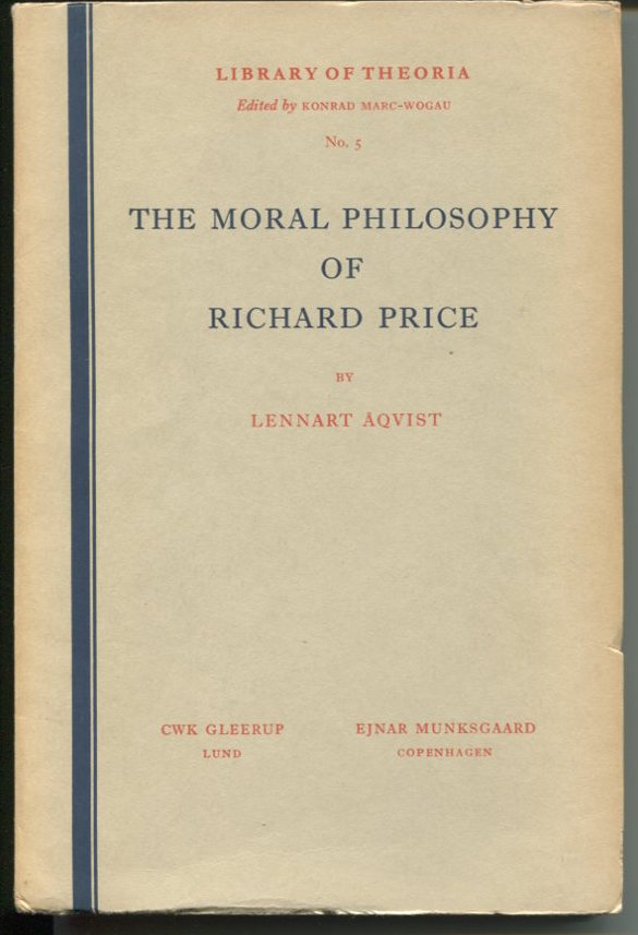 The Moral Philosophy of Richard Price.