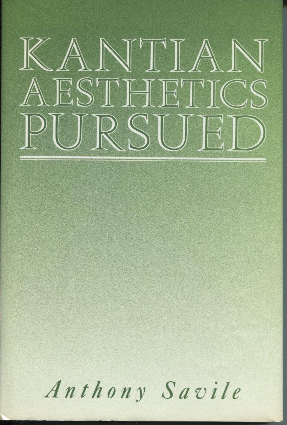 Kantian Aesthetics Pursued.