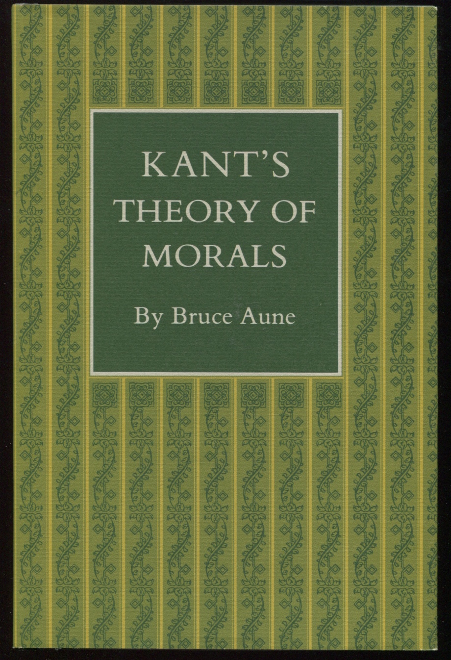 Kant's Theory of Morals.