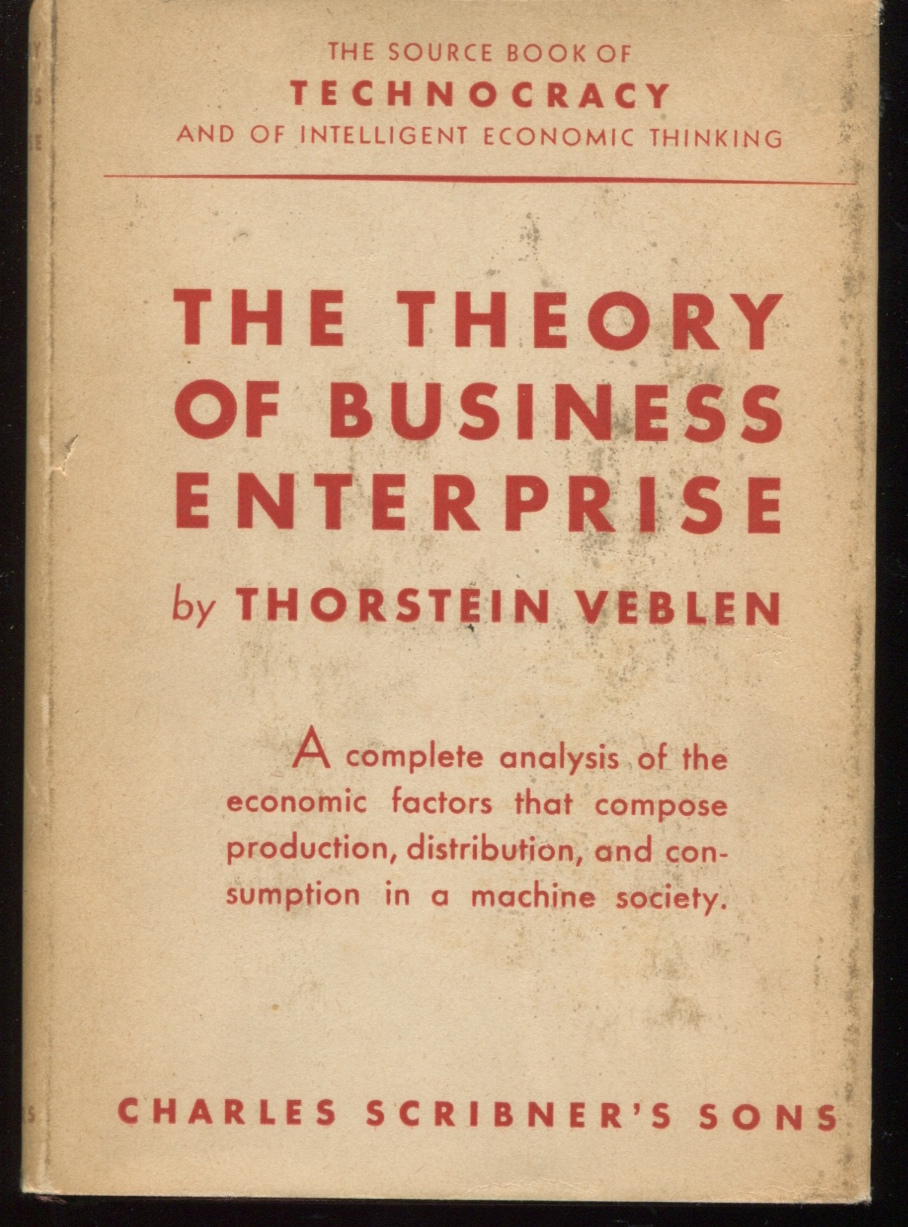 The Theory of Business Enterprise.