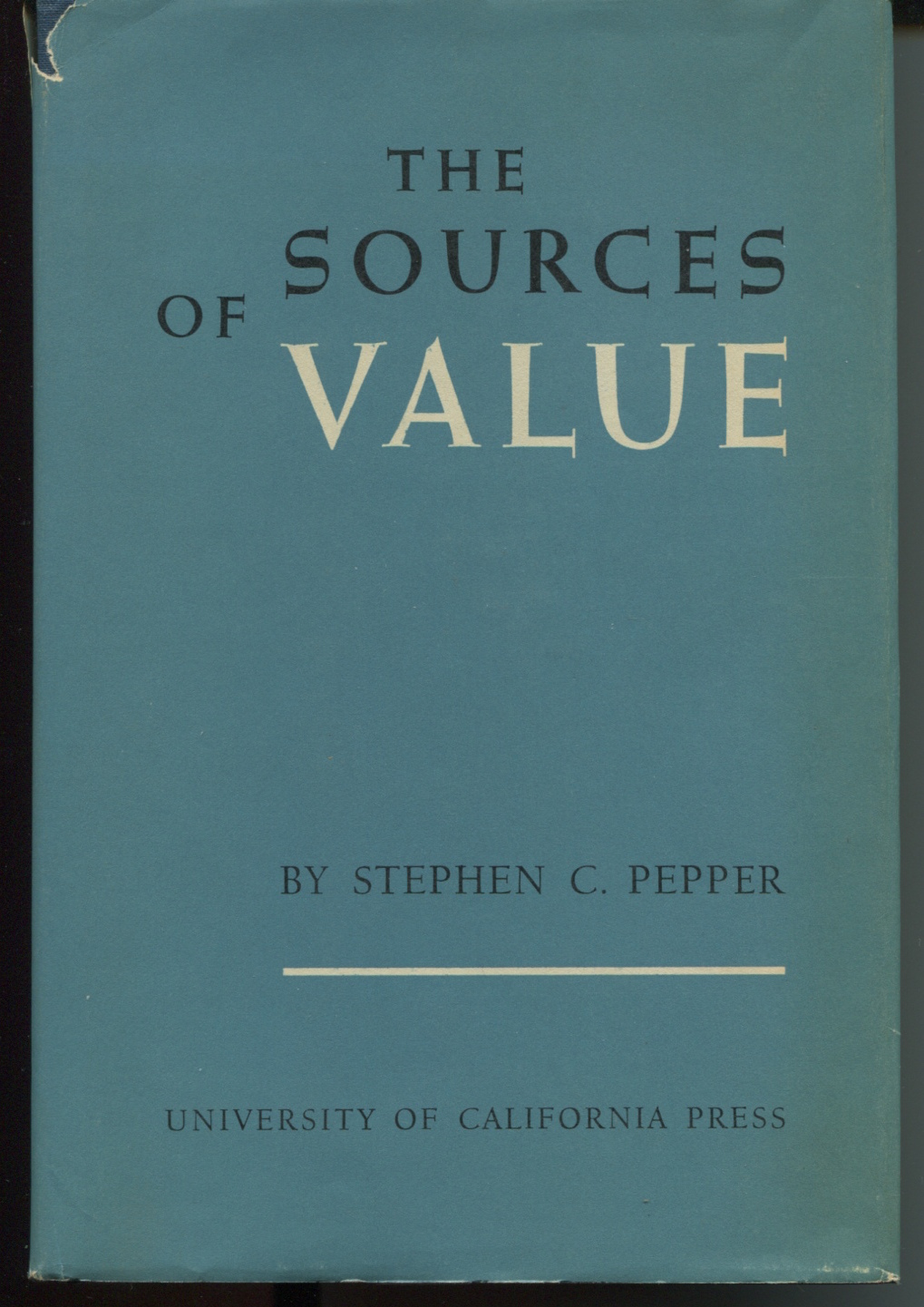 The Sources of Value.
