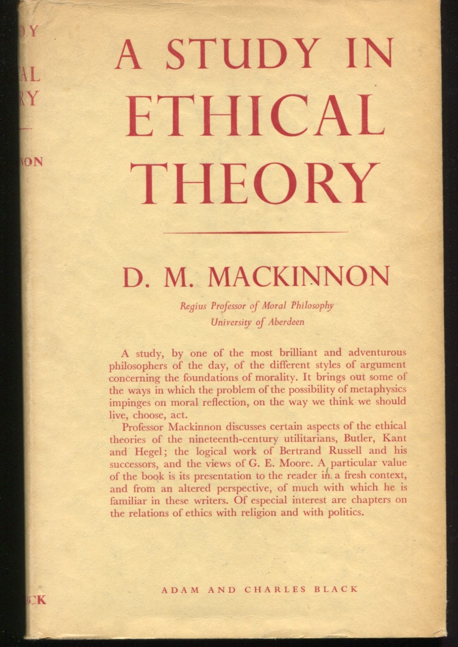 A Study In Ethical Theory.