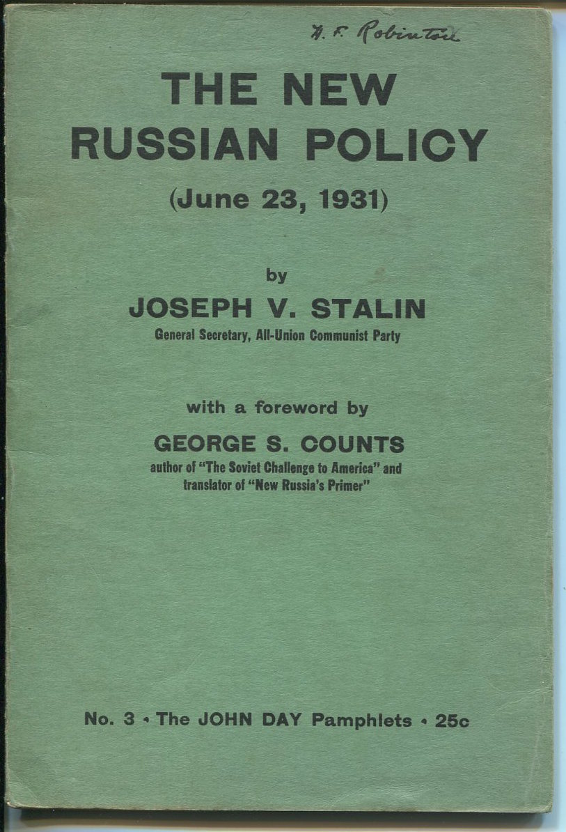 The New Russian Policy (June 23, 1931.)
