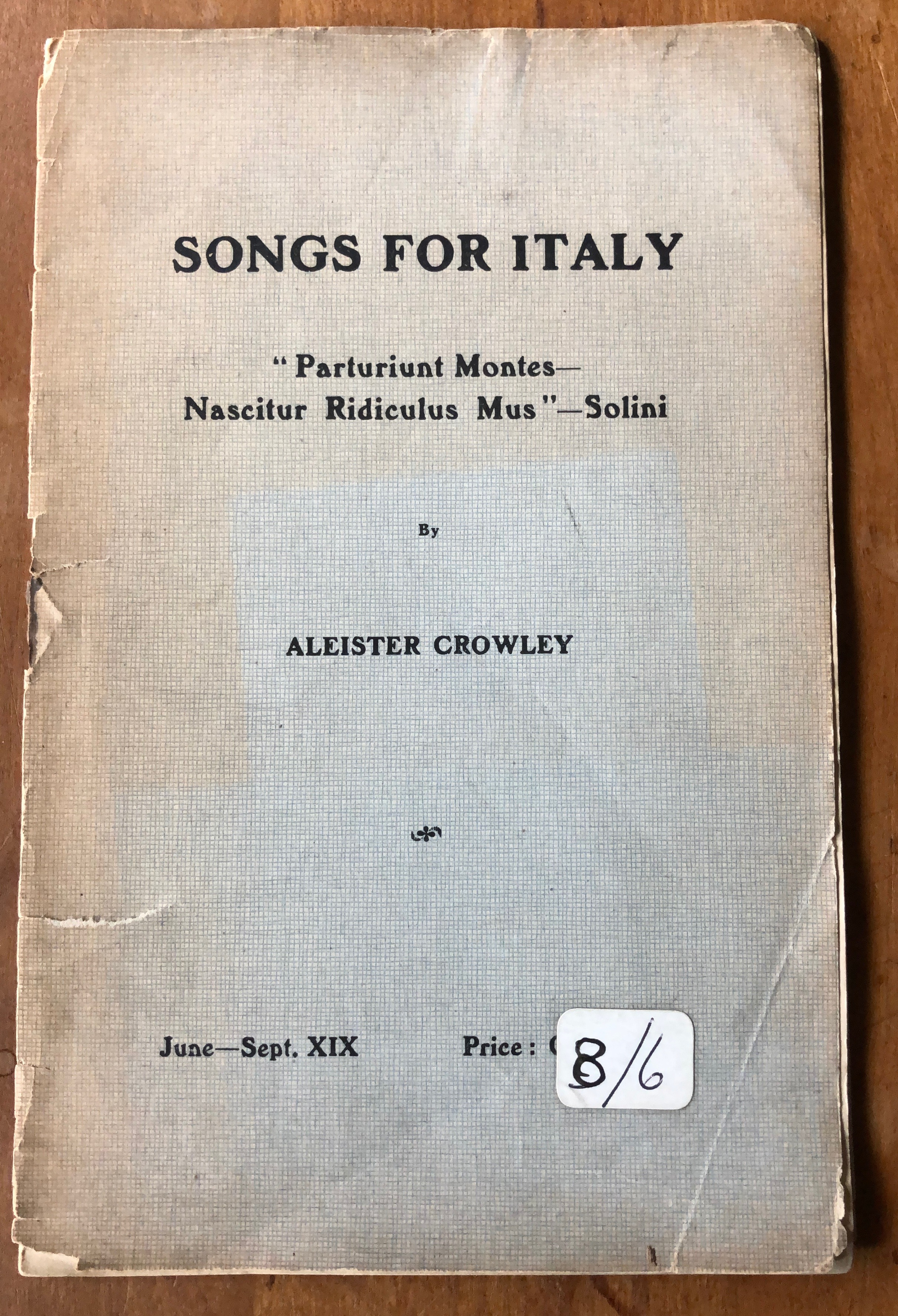 Songs For Italy.