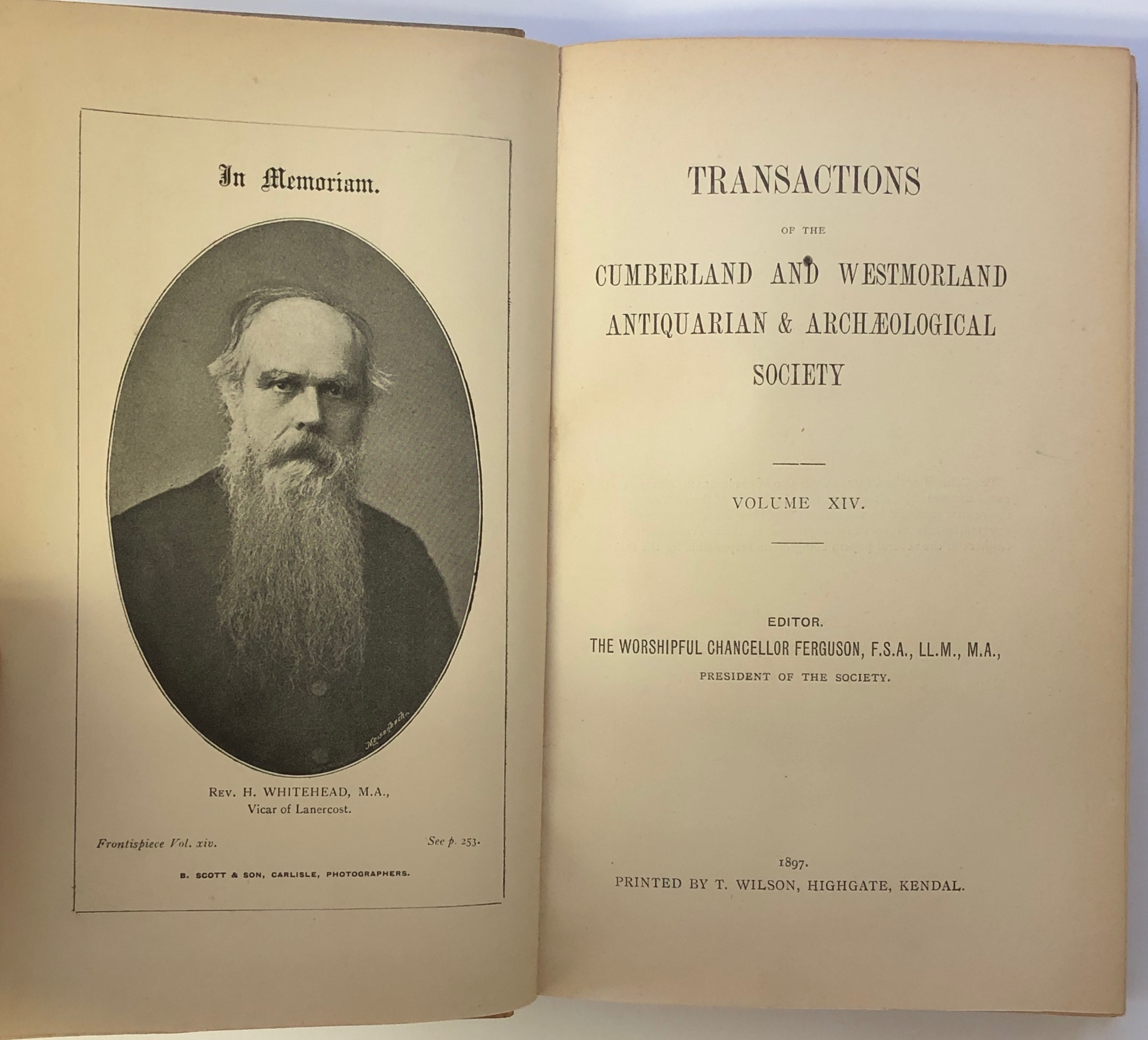 Transactions of the Cumberland and Westmorland Antiquarian & Archaeological Society. Volume XIV.